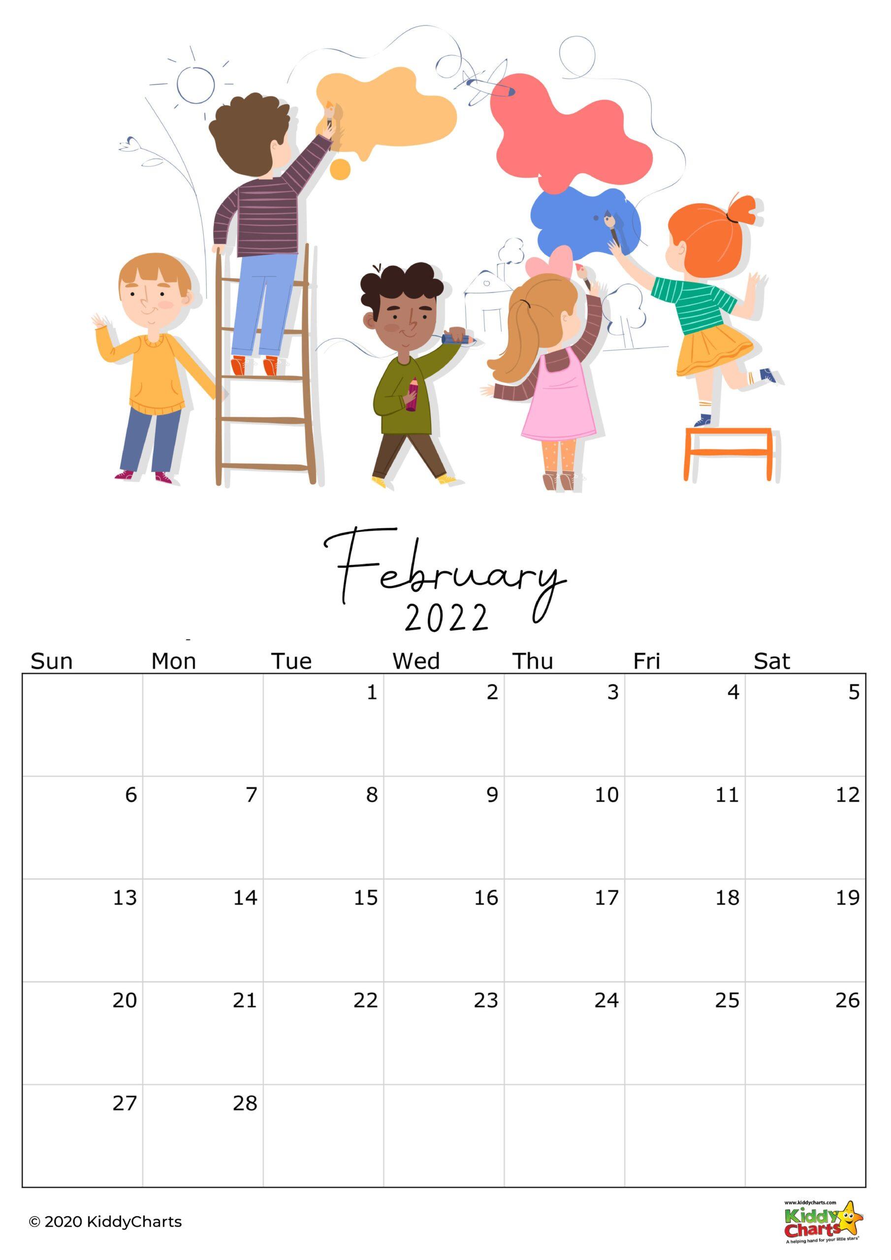 Calendar printable kids