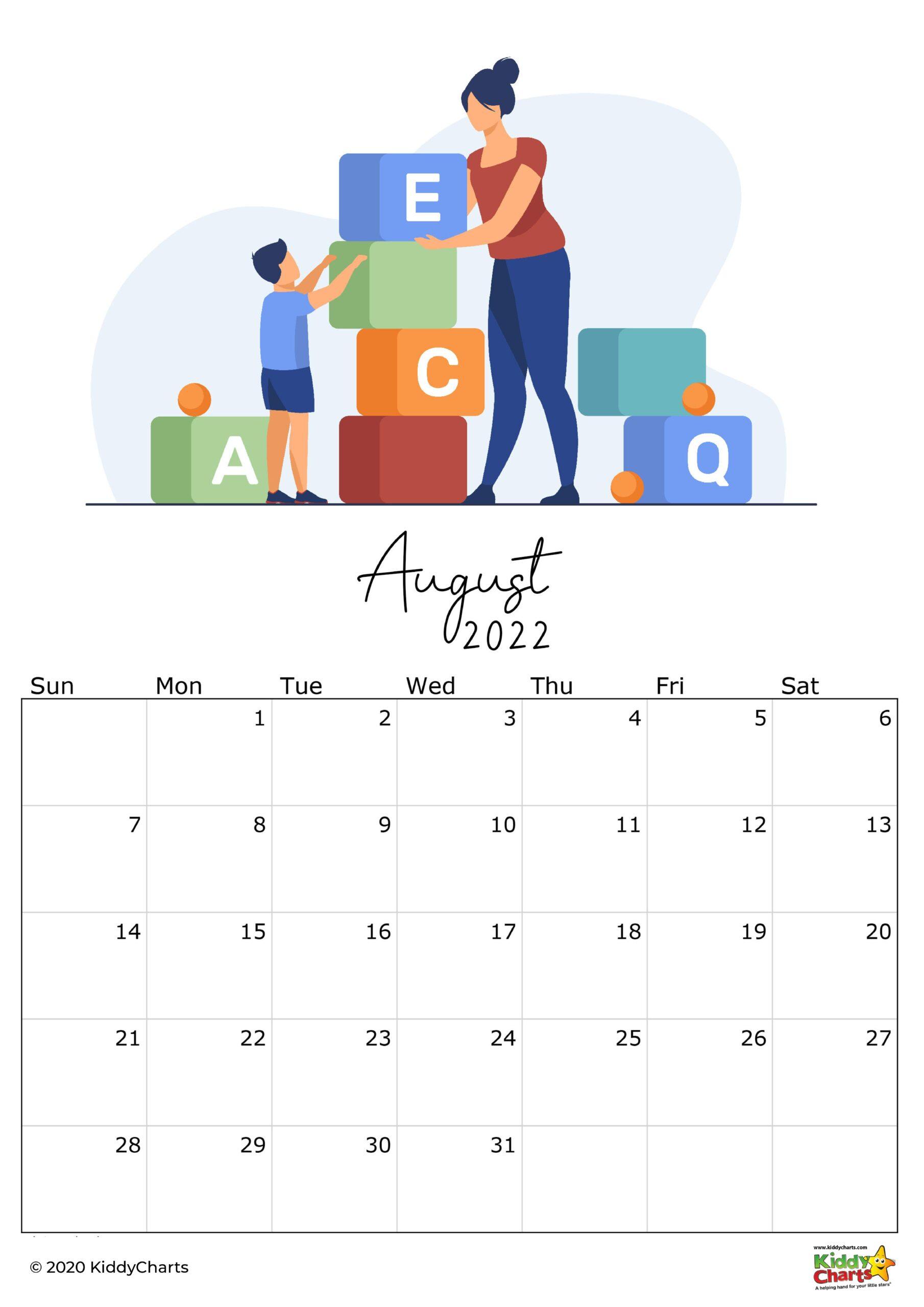 2022 Summer Calendar.2022 Calendar Thats Printable Kids Monthly Snapshots Kiddycharts Com