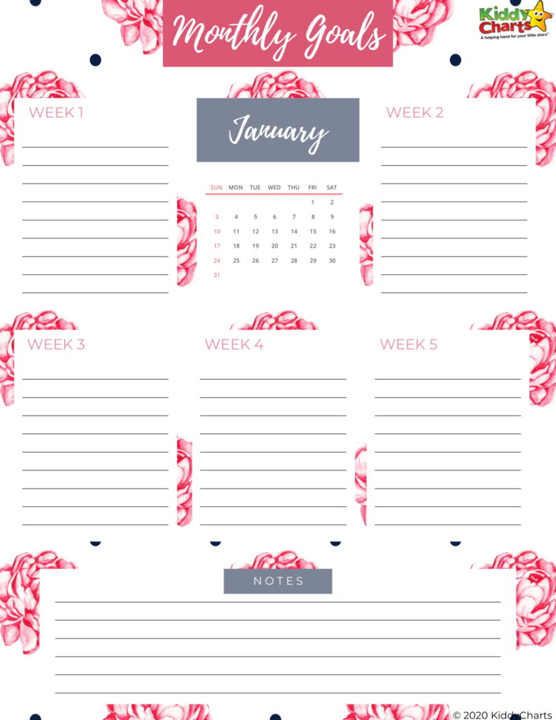 Free 2021 Mom Planner Including Self Care Plan