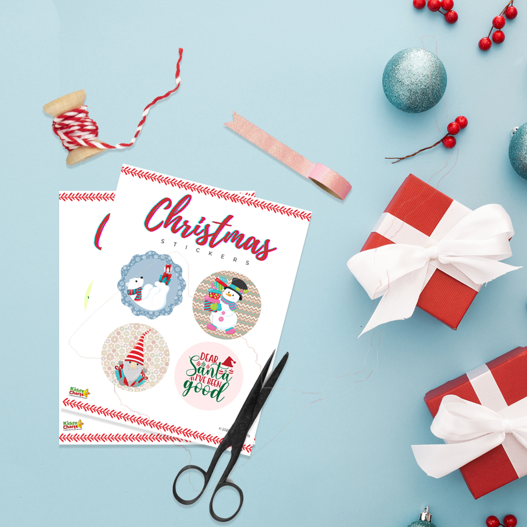 Free Christmas Stickers