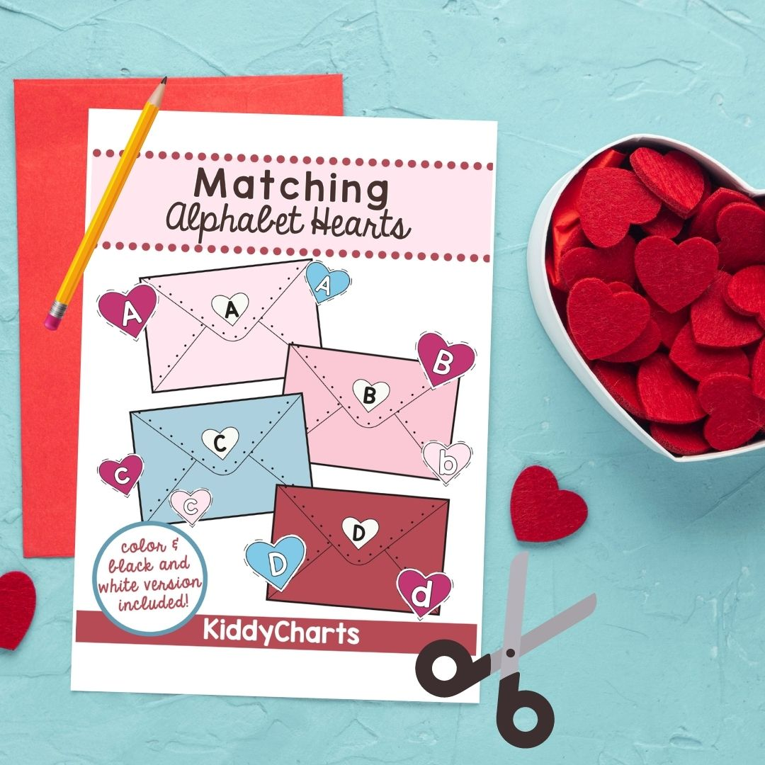 Valentine's Alphabet Game that is fun to play