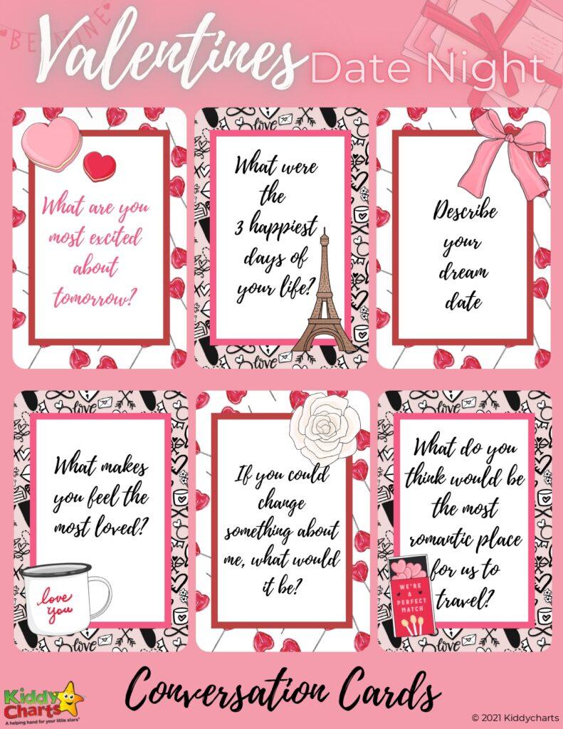 Valentine's conversations cards
