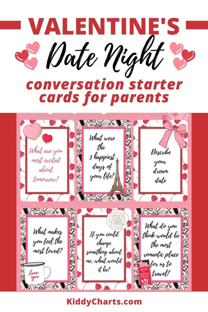 Valentine's conversations cards for parents