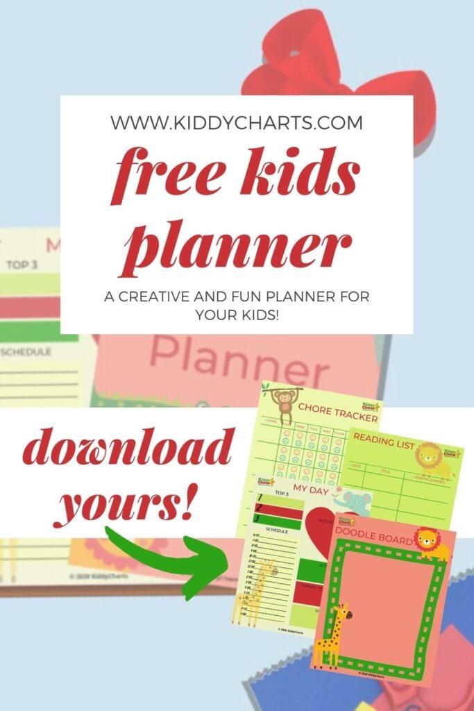 Free Kids Planner