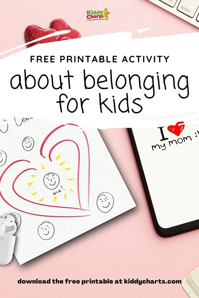 Free Activity about Belonging for Kids