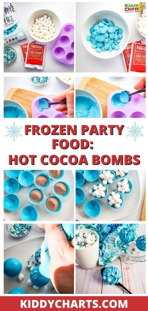 Frozen party food: Hot cocoa bombs
