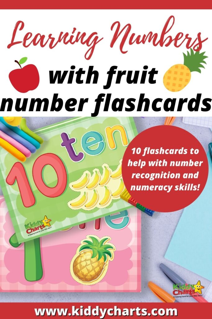 Learning Numbers with Fruit Number Flashcards