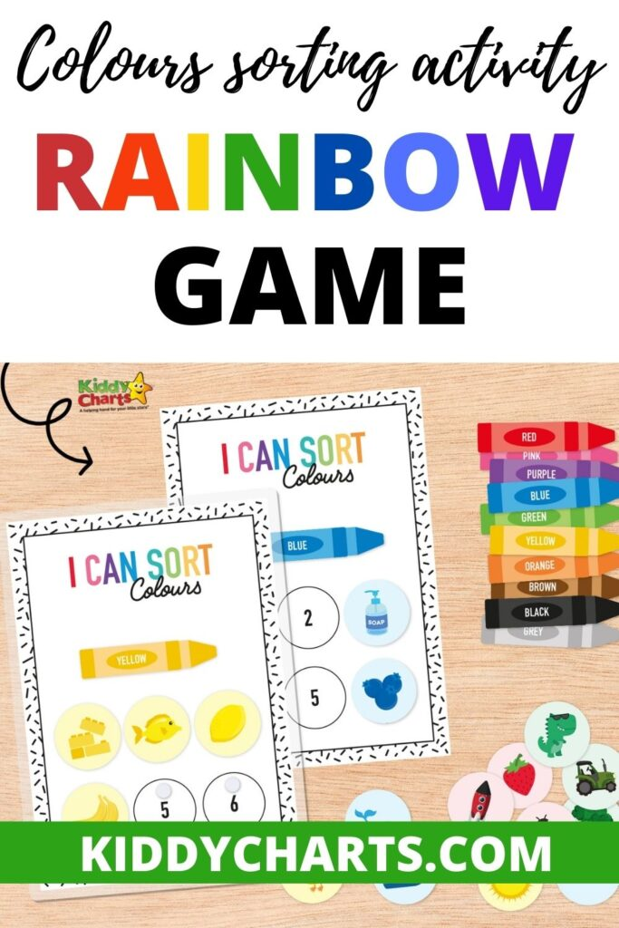 Colours sorting activity: Rainbow game