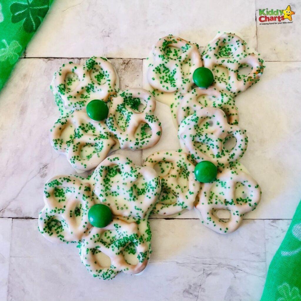St. Patrick's Shamrock pretzels