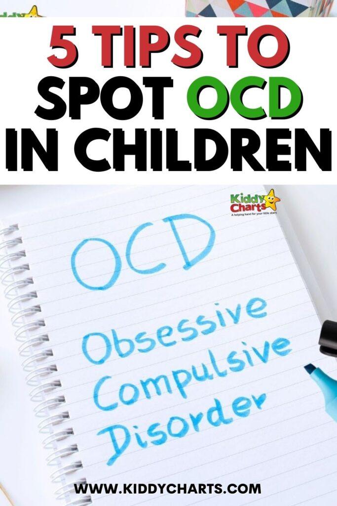 When you hear the term OCD in children
