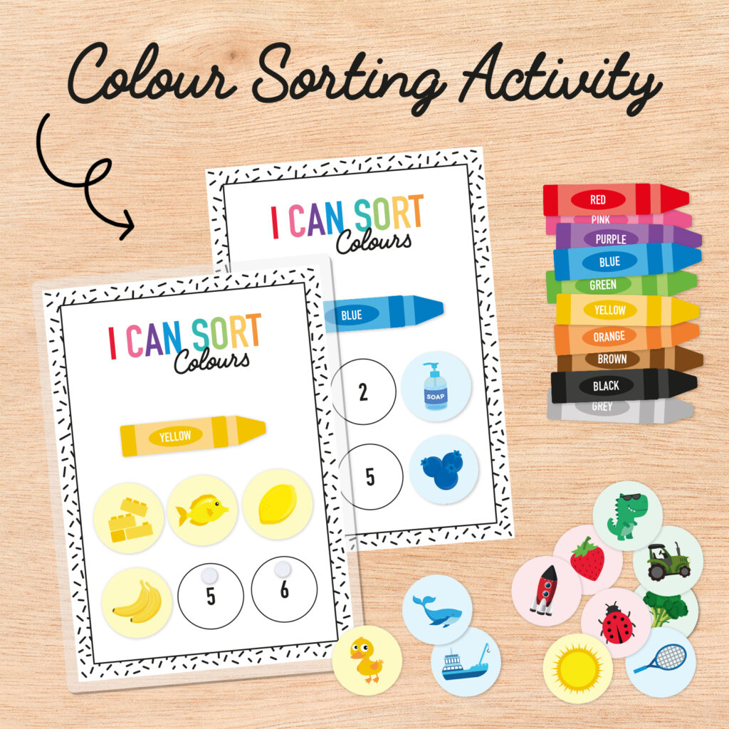 We always like to bring you fun learning activities to do with your kids, and this colour sorting activity and rainbow game is sure to be a winner. These lovely printables were provided to us by Monkey Steps for us to share with you. For this post, we are bringing you their colours sorting activity rainbow game. We know you'll love these as much as we do! #freeprintables #coloursorting #kidsactivities #rainbowgame