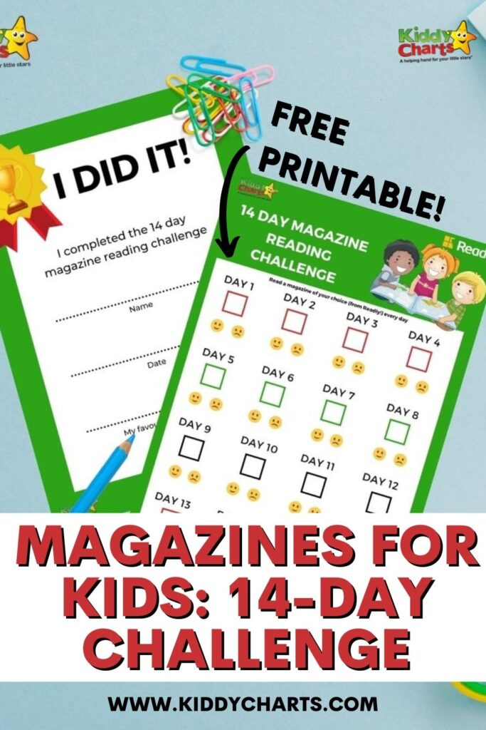 Magazines for kids: 14-day challenge