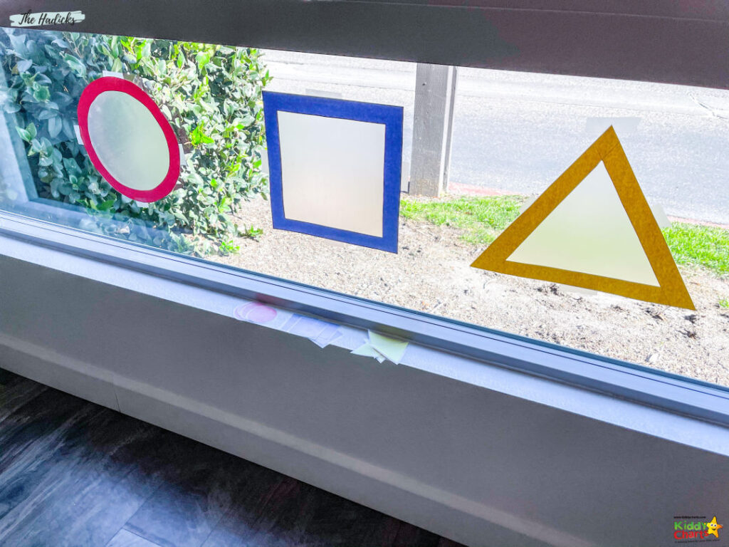 Activities for toddlers making window art