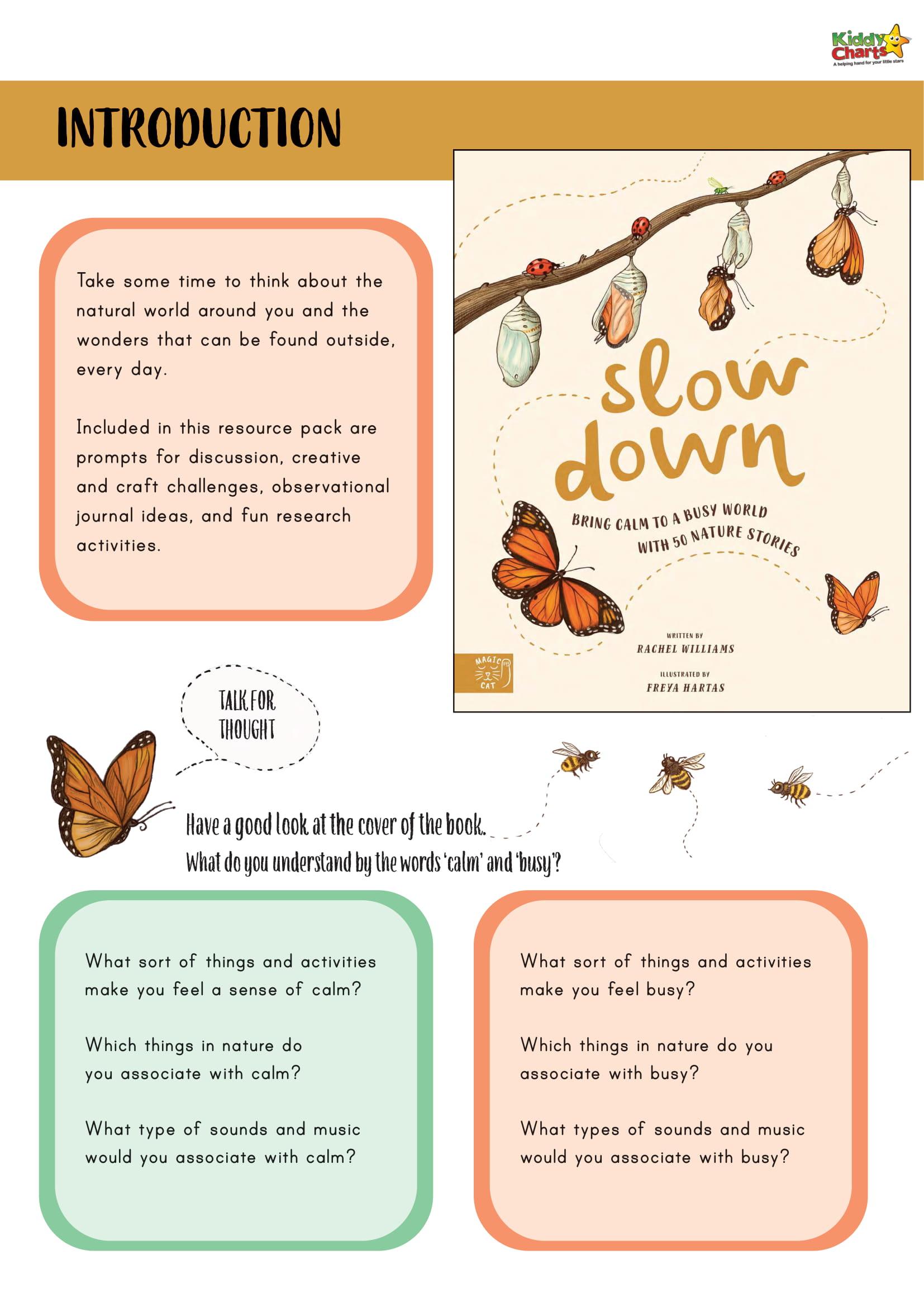 Slow Down Worksheets