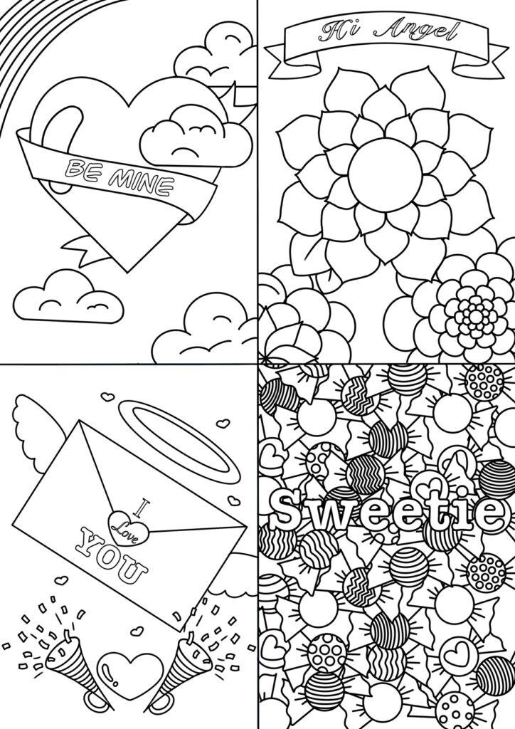 Valentine's note cards designs