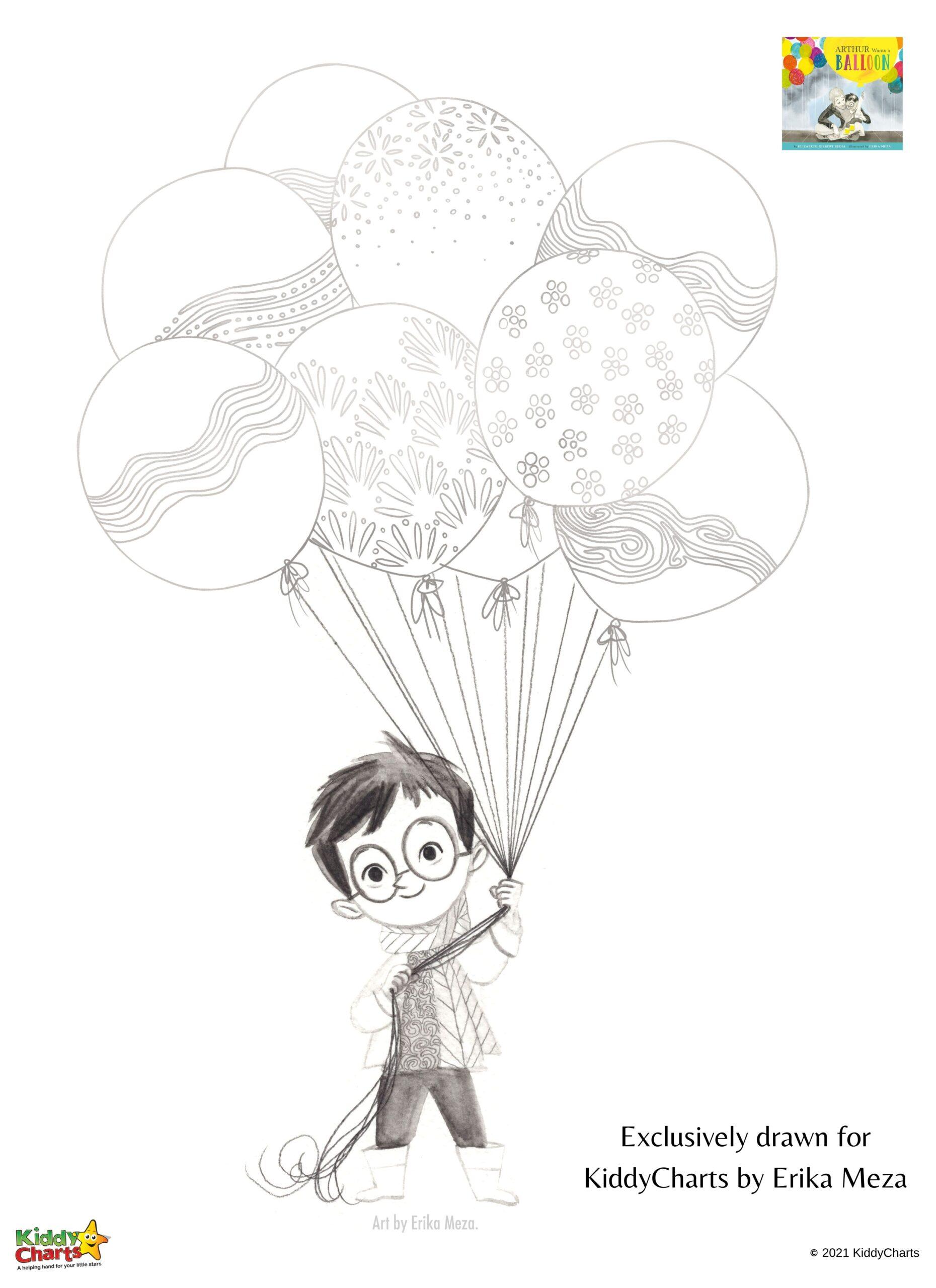 Arthurs balloon activity sheet