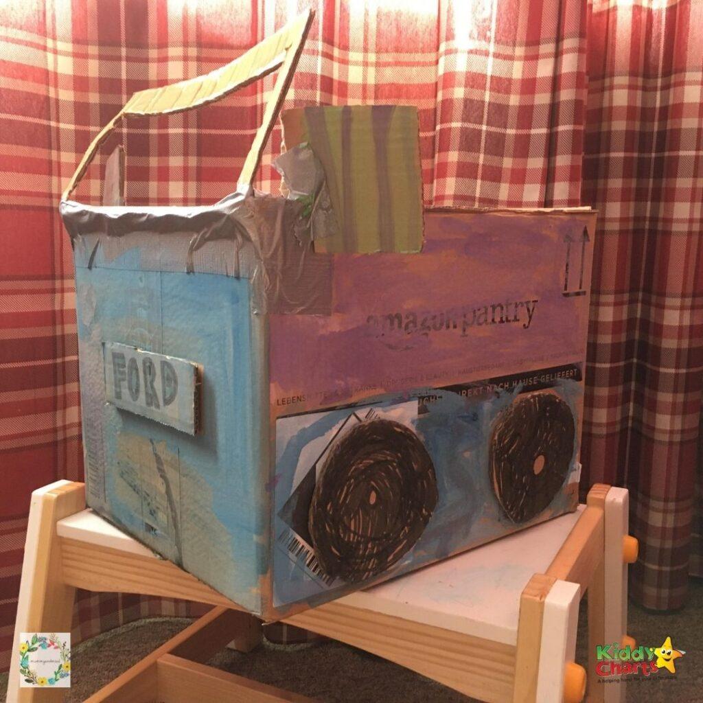 Cardboard box craft ideas car build