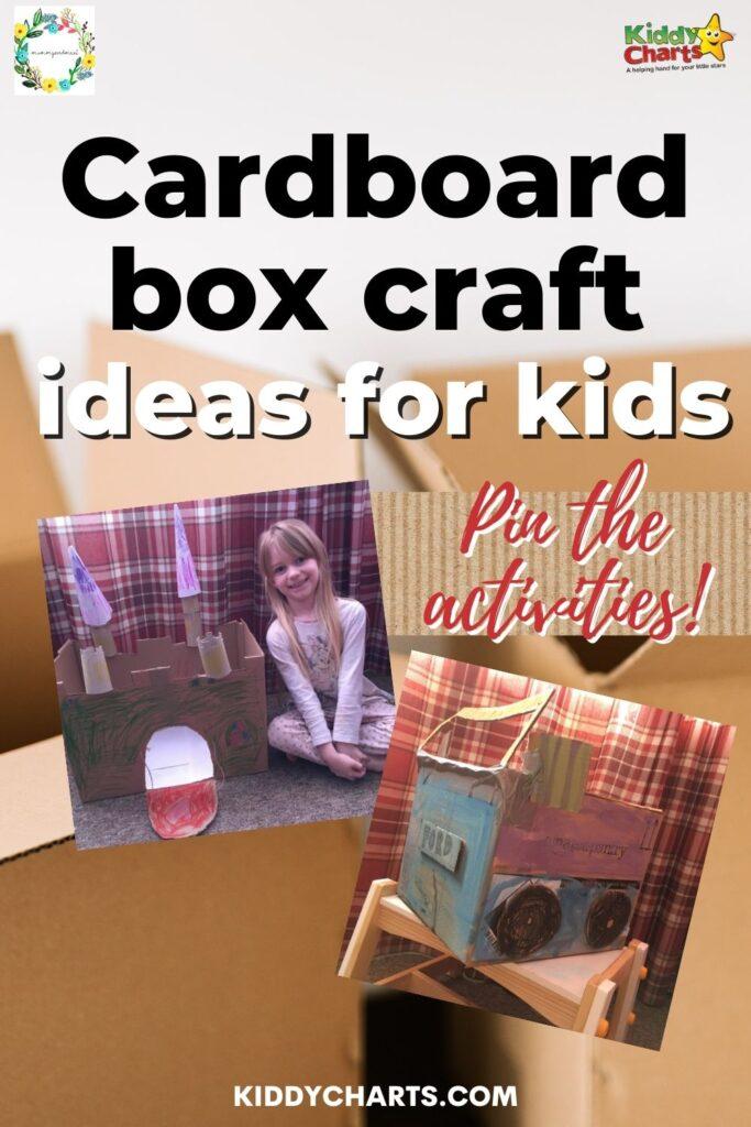 Cardboard box craft ideas