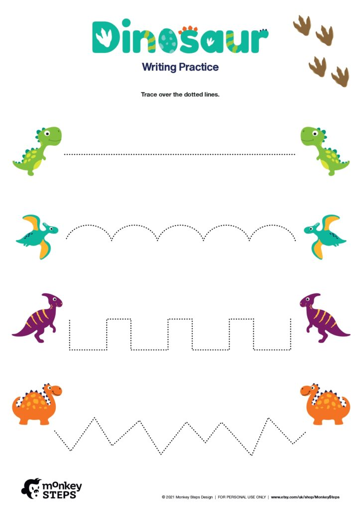 dinosaur activity for your pre-schoolers.