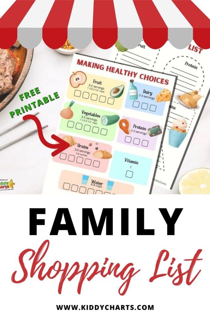 Family shopping list.