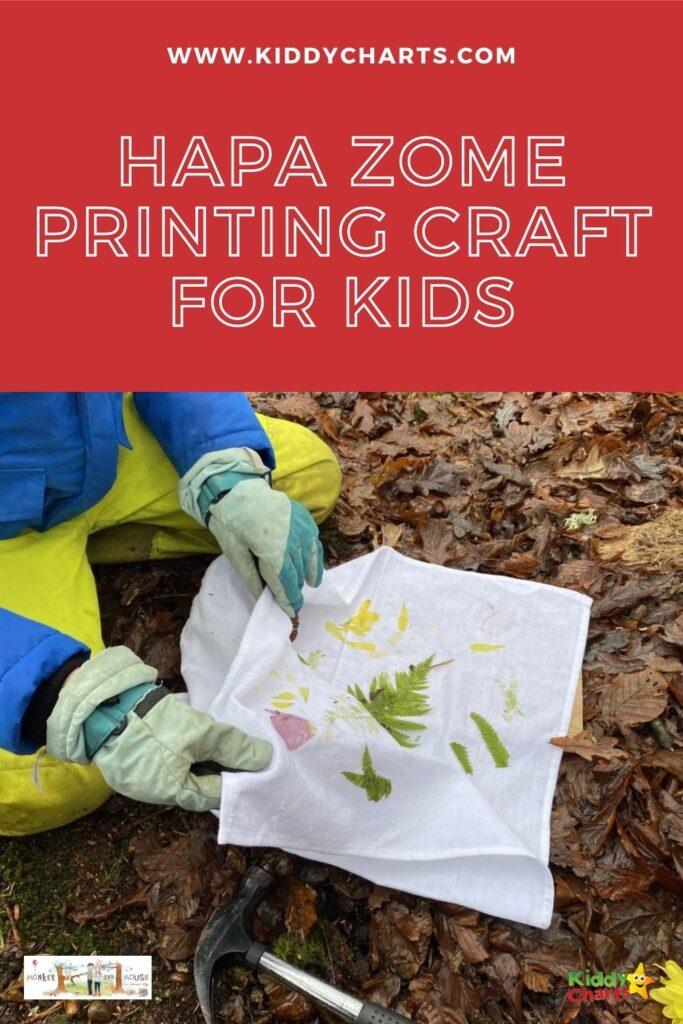 Hapa zome printing craft for kids