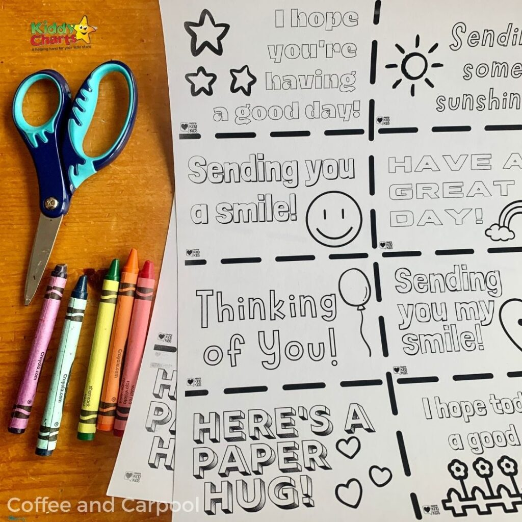 Ideas for kids kindness note cards