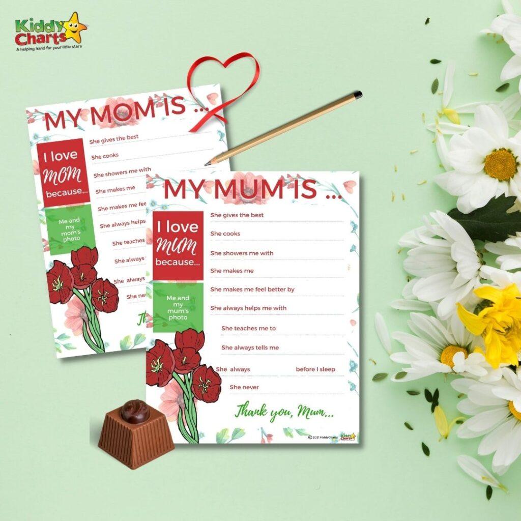 My mum activity sheet