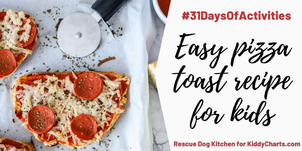 Toast pizza recipe for kids