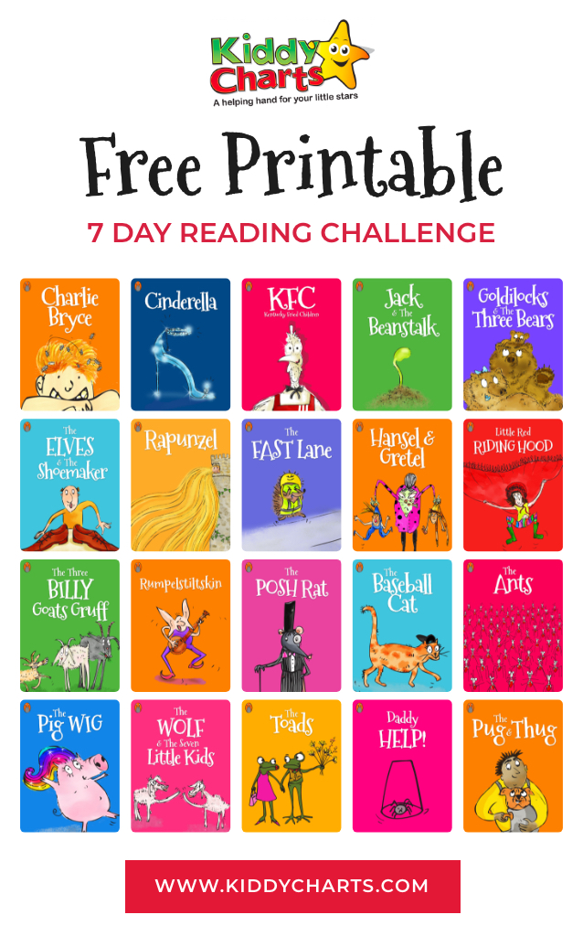 free 7 day trial reading challenge for kids