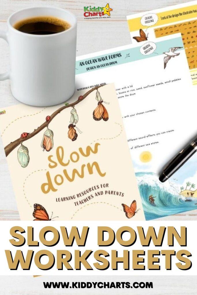 Slow Down Worksheets Printables