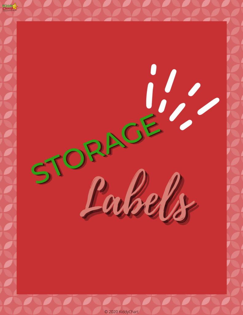 Storage Labels to Print