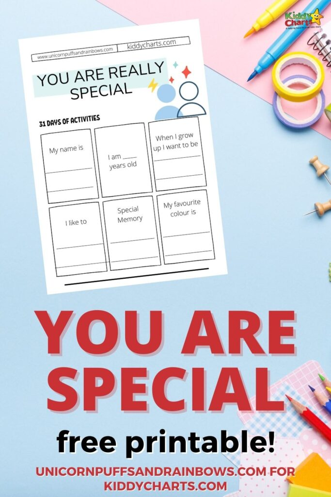 About me or you are special free printable
