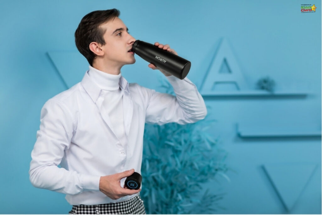 Auron makes drinking water more fun