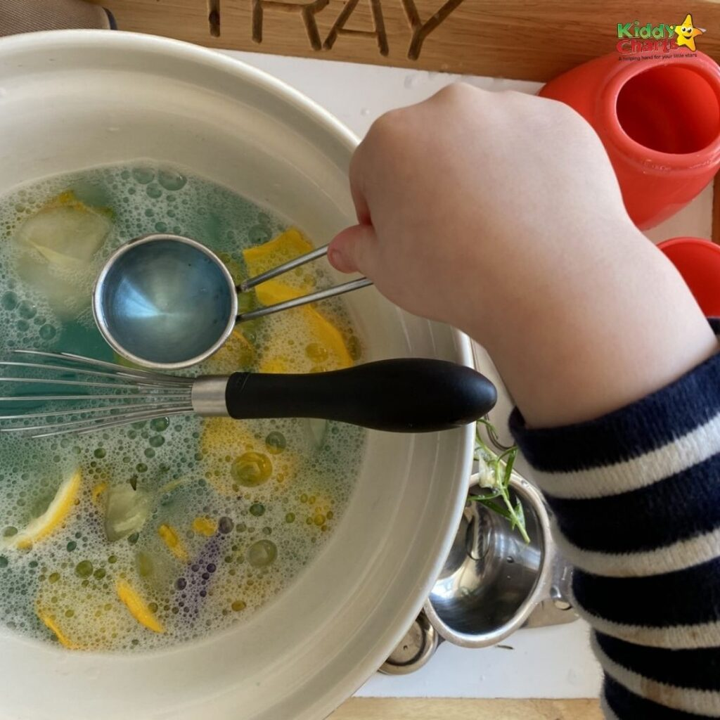Sensory play sensory soup activity