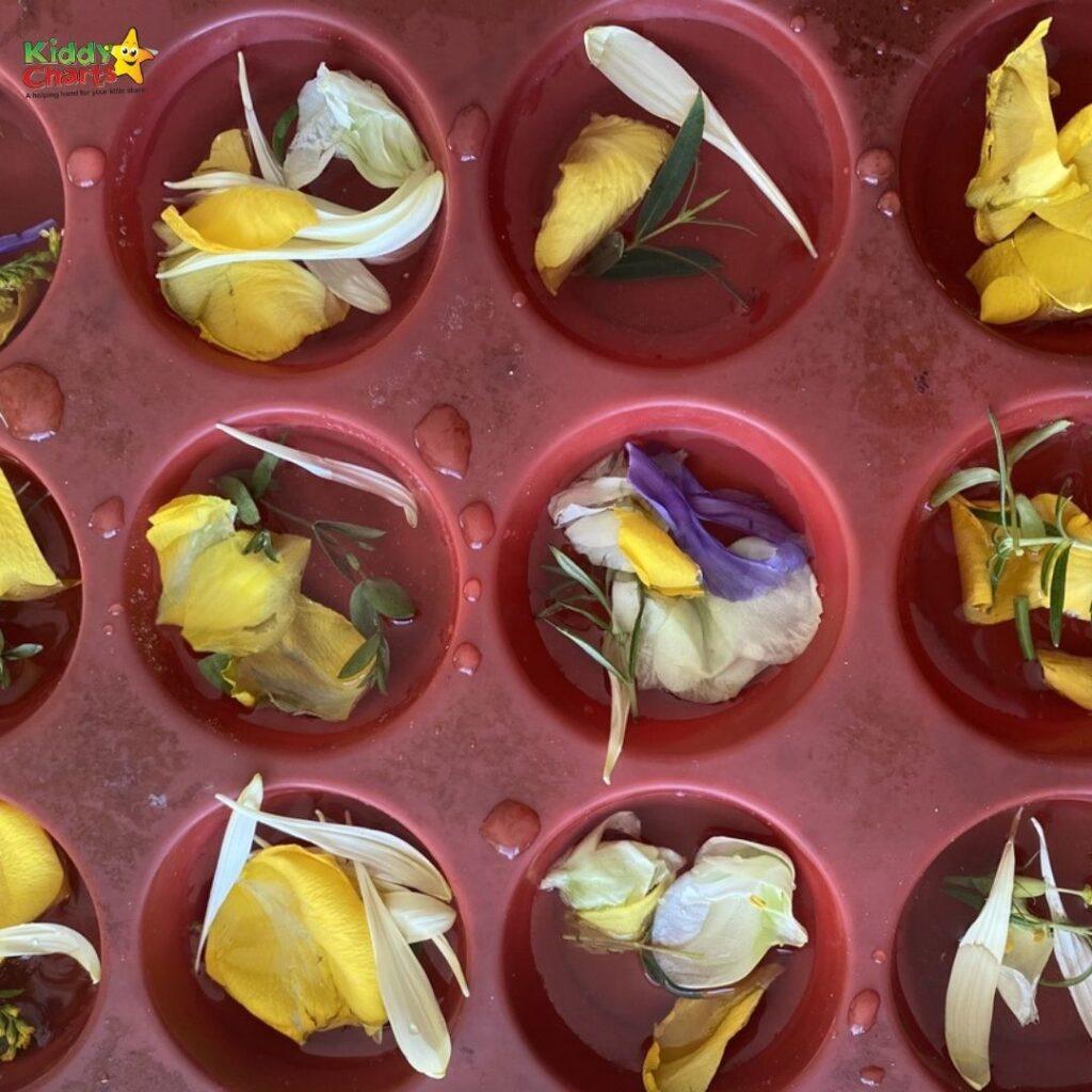 Flower sensory play soup activity