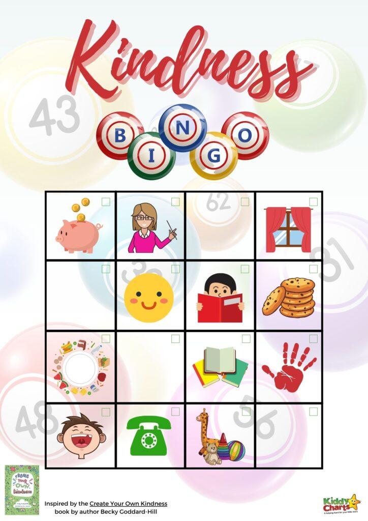Kindness bingo game it's fun for all