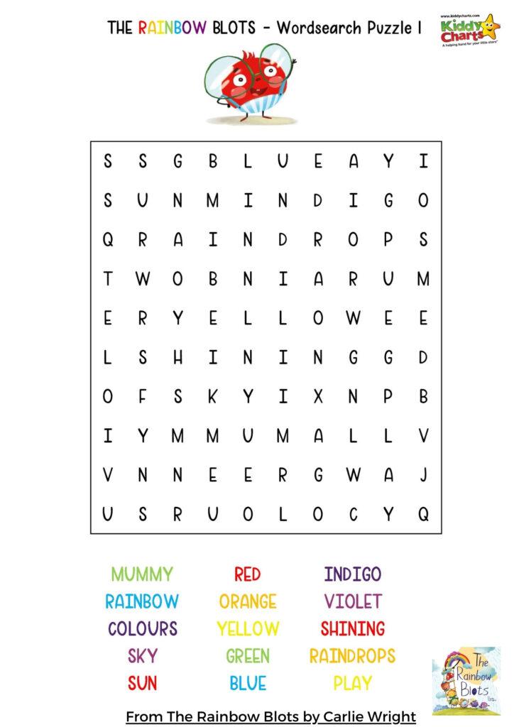 Rainbow word search