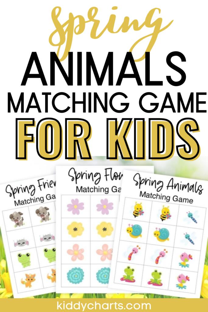 Printable spring memory matching games
