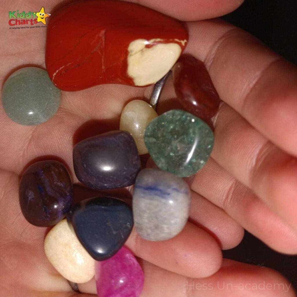 Rock Tumbler to polish rocks with kids
