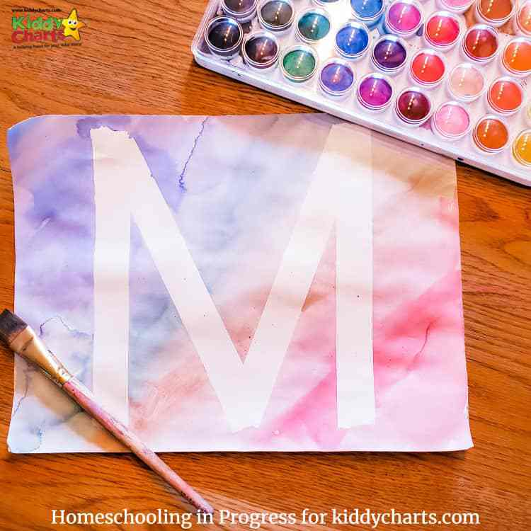 ABCs learning using paints and different materials