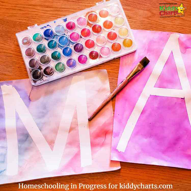 ABCs learning with watercolor painting for kids