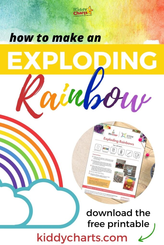 How to make an exploding rainbow