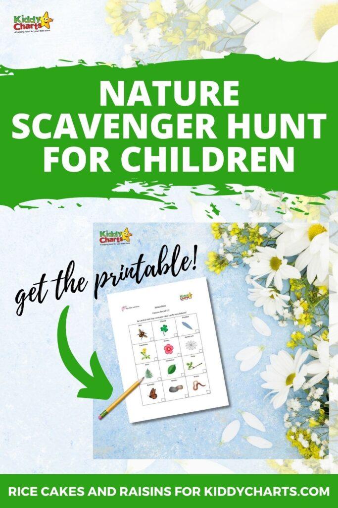 Nature scavenger hunt for children