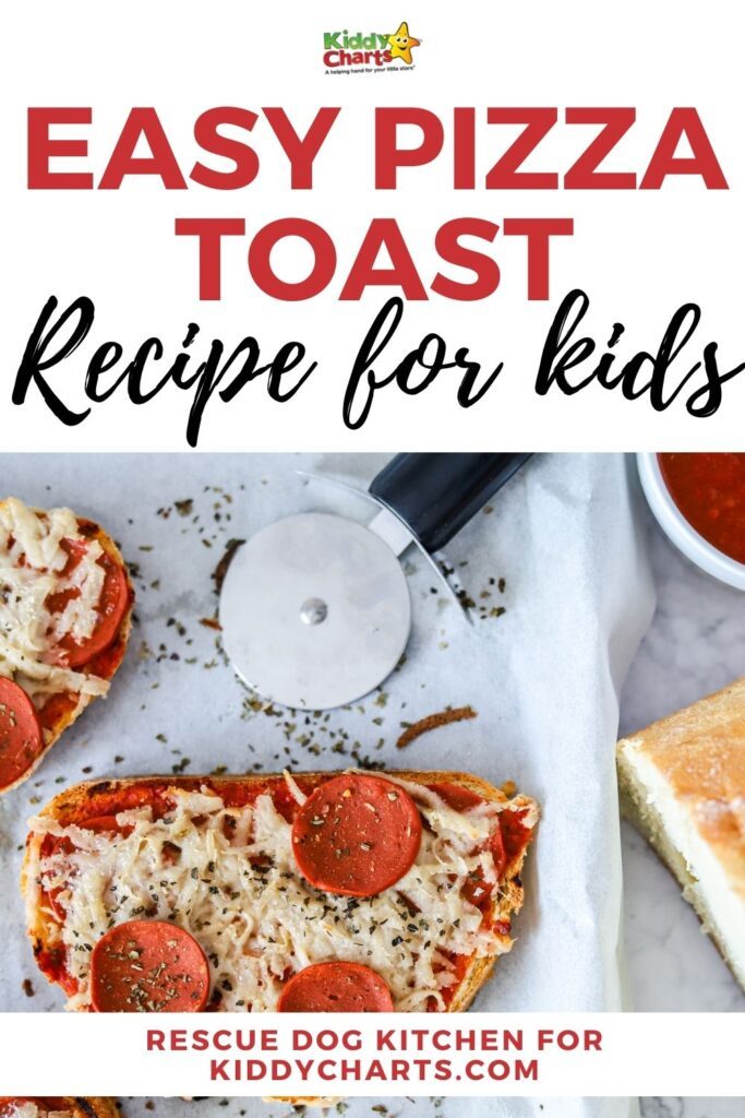 Easy pizza toast recipe for kids