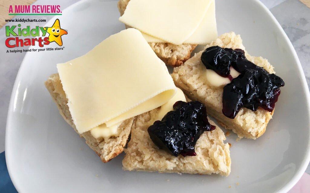Swedish scones recipe with butter and jam