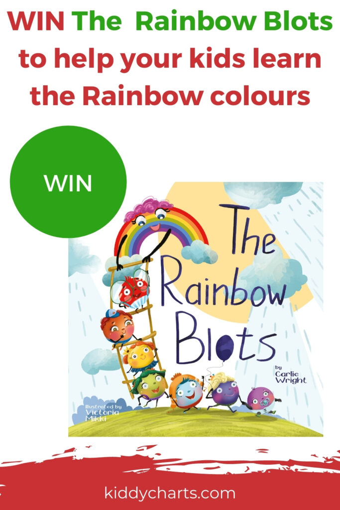 Win Rainbow Blots book to help your children learn the rainbow colours