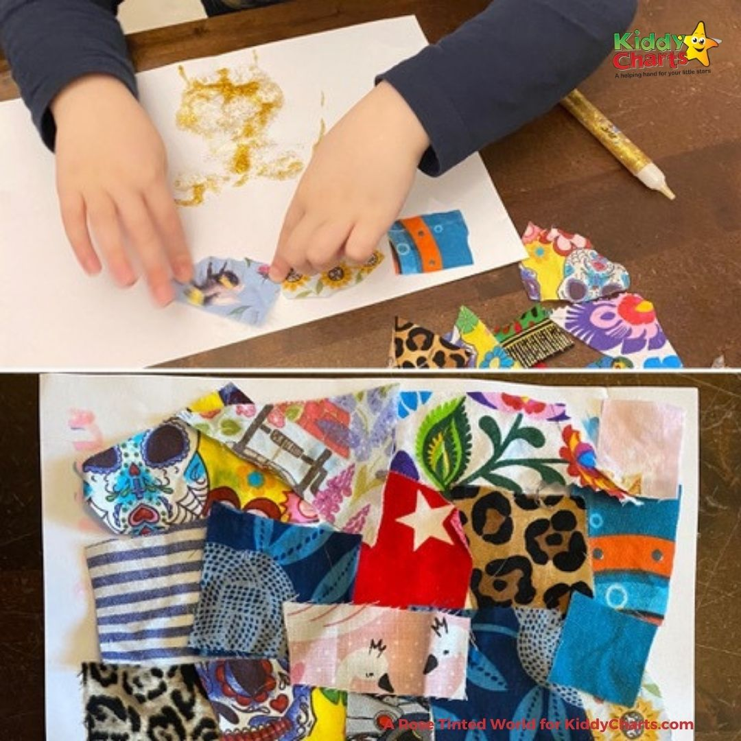 Upcycling clothes with children for art projects