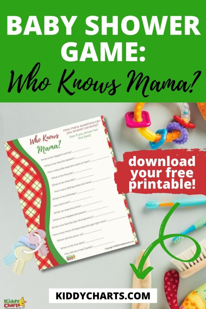 Baby Shower game: Who knows Mama?