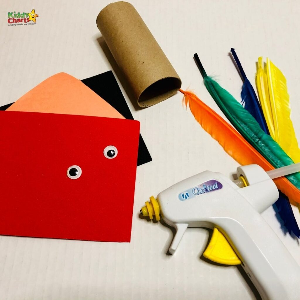 Feathered friends toilet roll craft
