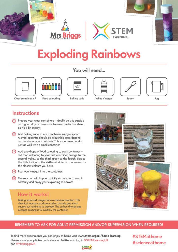 Exploding rainbow craft idea